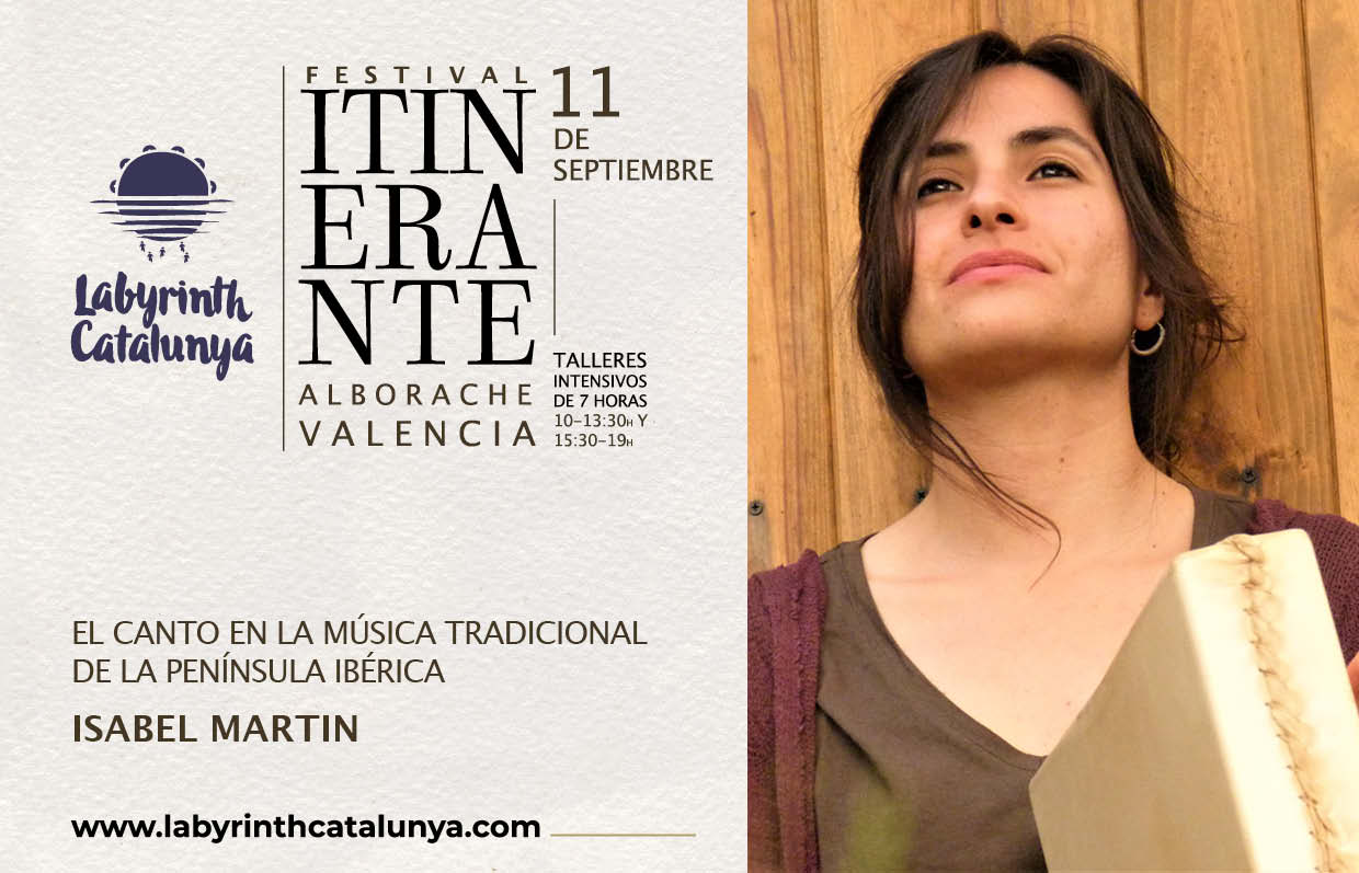 Singing the traditional music of the Iberian Peninsula. Isabel Martín